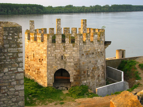 "Smederevo fortress, ""water tower"" near the Danube river, Serbia"