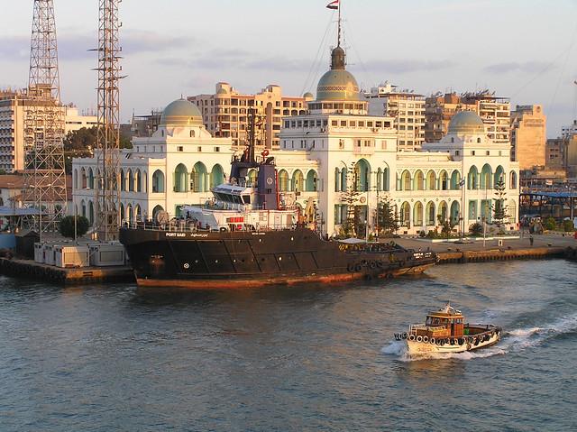 Suez Egypt  city photo : Egypt Suez Canal Transit | Suez Canal Authority building ...