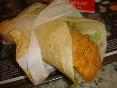 Chicken wrap do Mc Donald´s