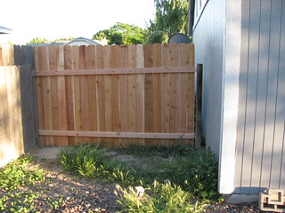 fence section backyard side