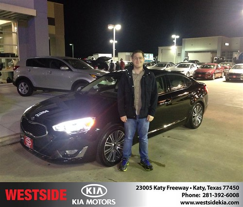 Thank you to Cesar Prado III  on your new 2014 #Kia #Cadenza from Rick Hall and everyone at Westside Kia! #NewCar by Westside KIA