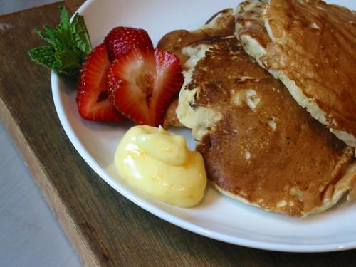 Banana Macadamia Pancakes with Orange Butter 5