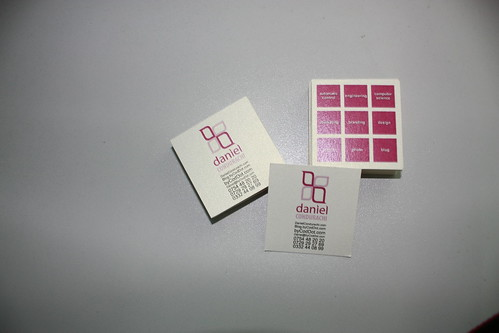 New Business Card Design Print and Cut Manually by me Daniel Condurachi byCodDot