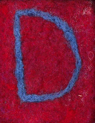 Alphabet ATC or ACEO Available - Needlefelted Letter D