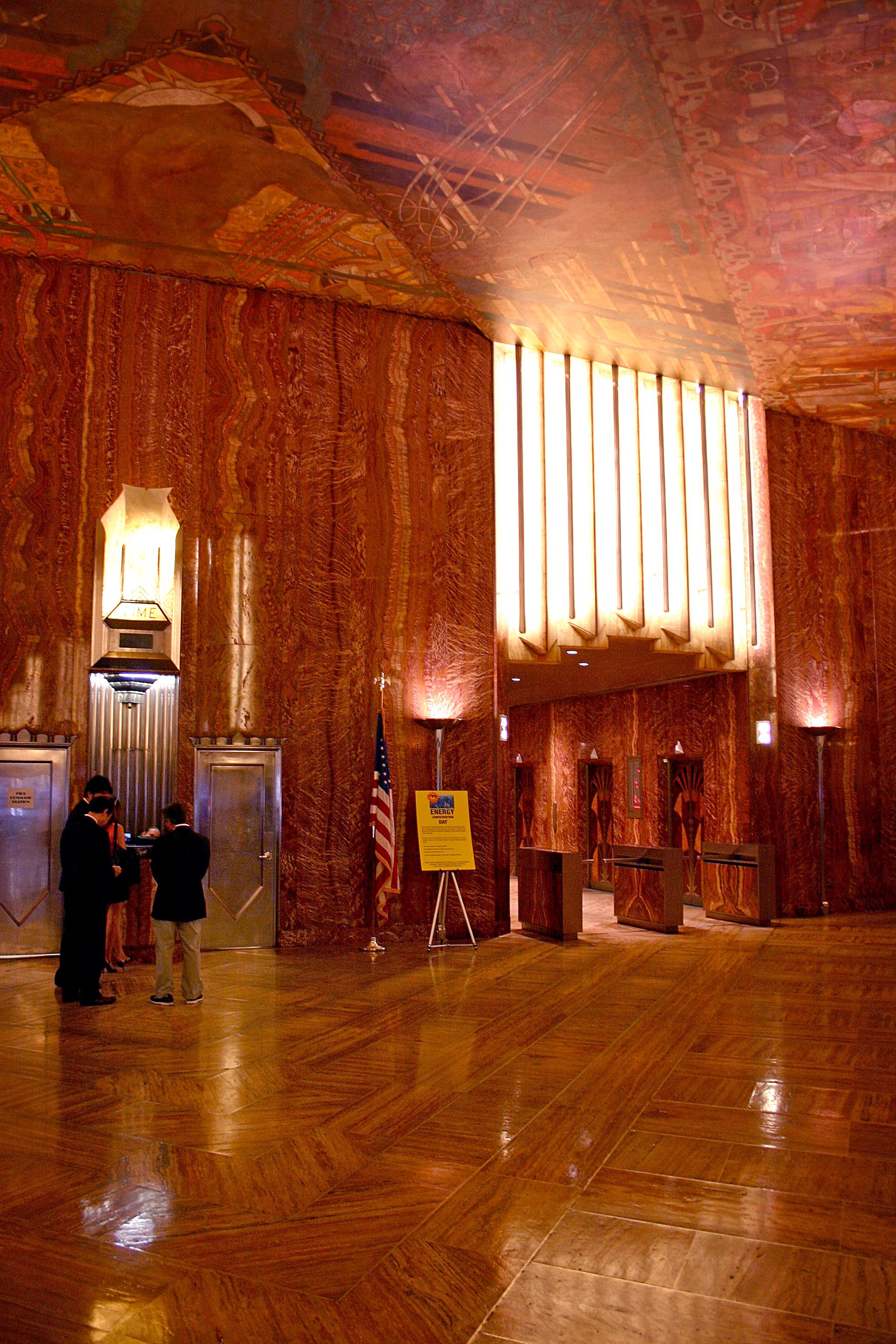 The chrysler building lobby 01 for Chrysler building lobby mural