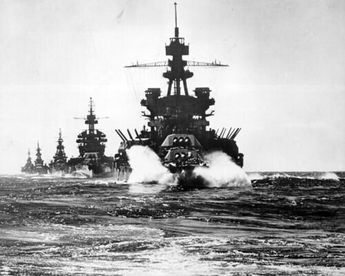 無料写真素材, 戦争, 軍用船, 戦艦, 第二次世界大戦, アメリカ軍, モノクロ