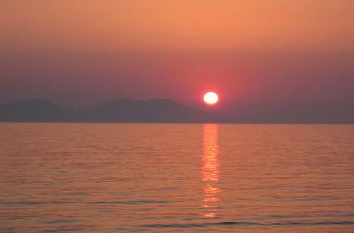 sunset sea summer landscape albania vlora vlore