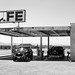 ROY'S Motel and Cafe on Route 66 in Amboy, California (Black and White)