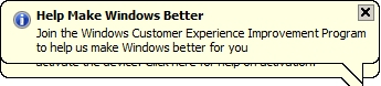 ugly microsoft windows survey popup