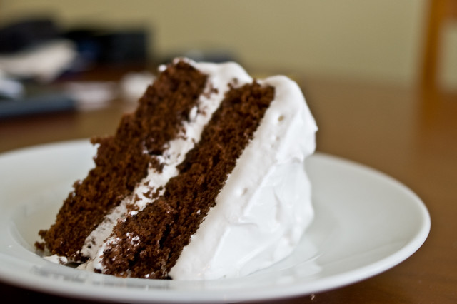 Devil's Food cake with fluffy icing | Flickr - Photo Sharing!