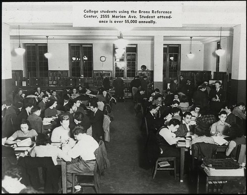 Work with schools, Bronx reference center : college students...
