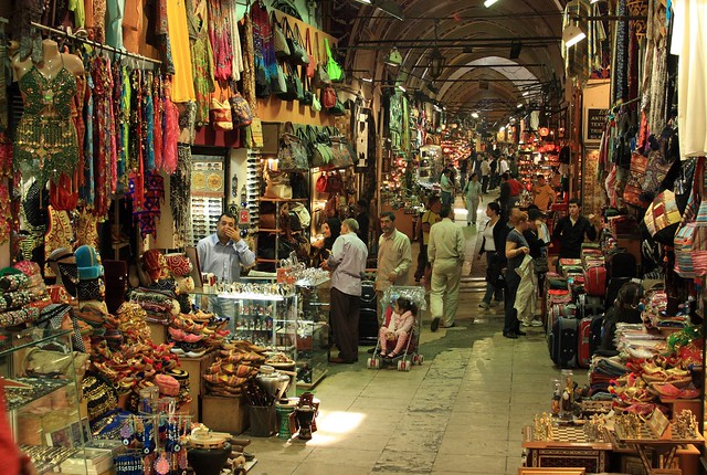 Just one of many hallways in the Grand Bazaar, Istanbul. Flickr CC Alaskan Dude