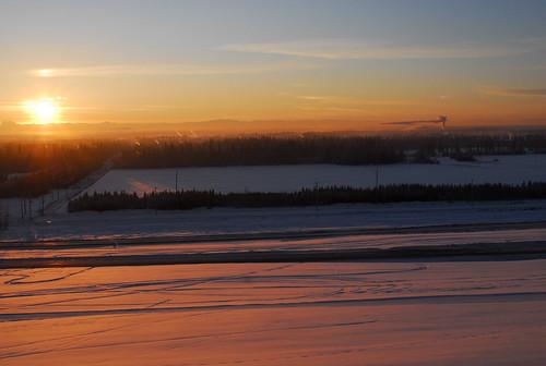 winter cold alaska north solstice fairbanks subzero