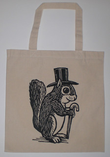 Formal Squirrel Tote Bag