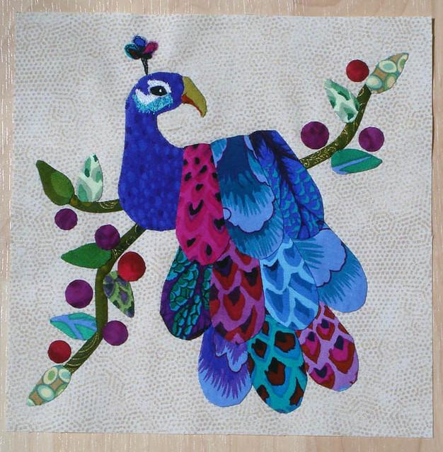 Peacock Applique Quilt Block 1st One Flickr Photo