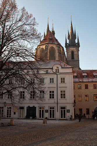 Prague - Back view of Tyn Cathedral