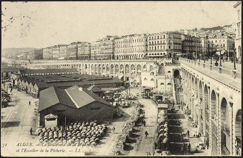 Algiers: The Boulevard de la République and the Staircase of the Fisheries (GRI)