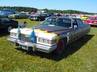 Swedish flamed 1976 Cadillac Fleetwood