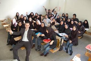 Con mis alumnas de Teherán 1/4