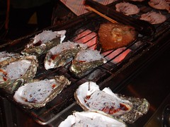 Shellfish, grilled on the half-shell