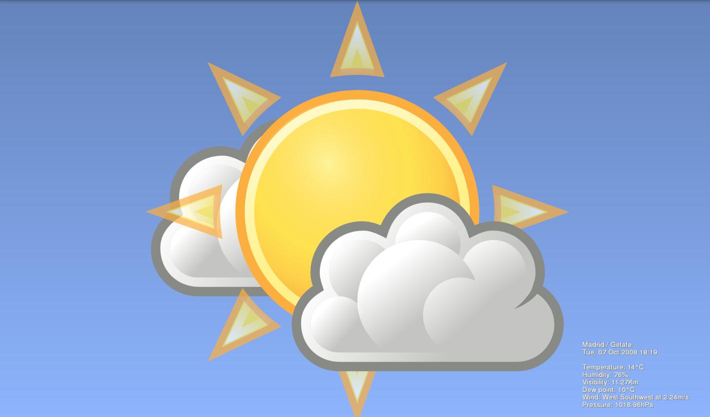 Weather wallpaper muestra el tiempo en tu escritorio - El tiempo en l arboc ...