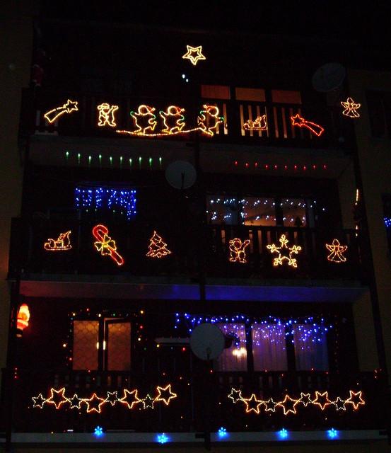 Christmas Window Balcony Decor A Gallery On Flickr