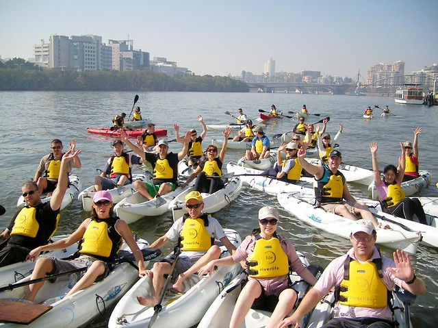 Group adventure on the Brisbane river with Riverlife