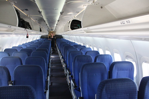 AirTran 717 cabin