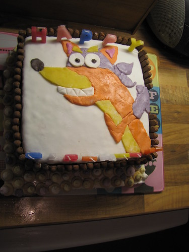 Swiper birthday cake