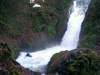Kayaker at Bridal Veil Falls     3