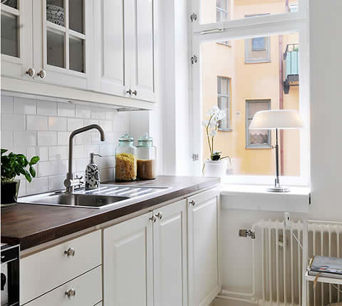 White kitchen design flickr photo sharing for Small white kitchen ideas