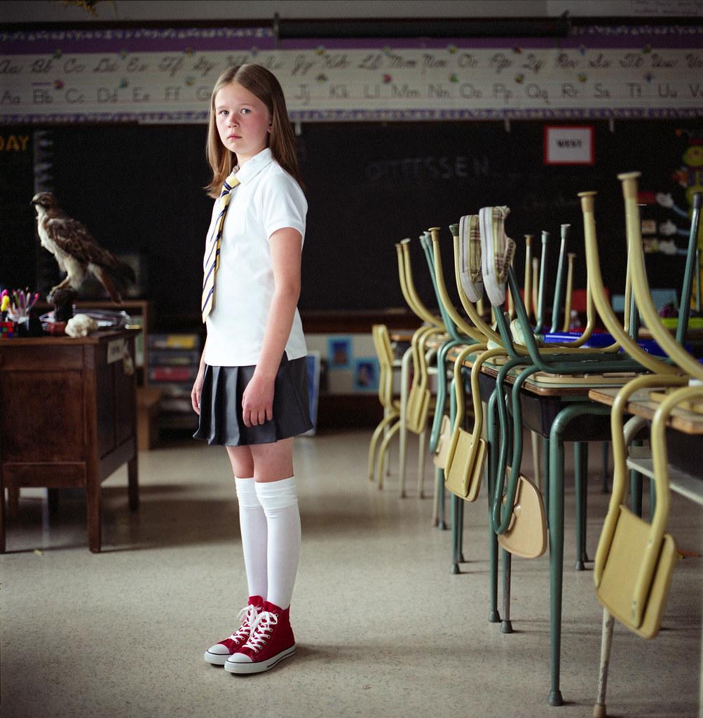 Girl, Old School, red chucks