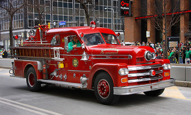Vintage Red Fire Truck Flickr Photo Sharing