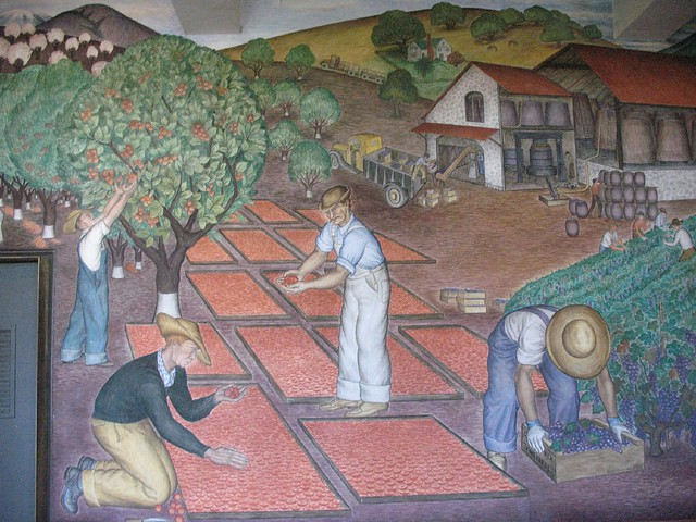 Coit tower wpa mural flickr photo sharing for Coit tower mural artists