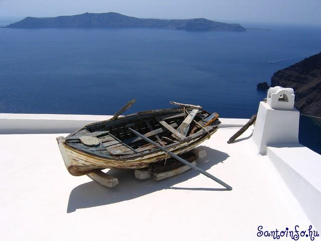 Santorini, Firostefani, el barco :-)