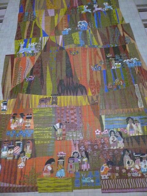 Mary blair southwest mosaic contemporary hotel walt disney for Contemporary resort mural