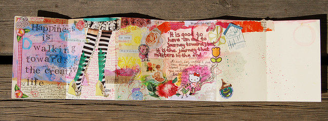 My first entry in the Moleskine accordion book - by iHanna