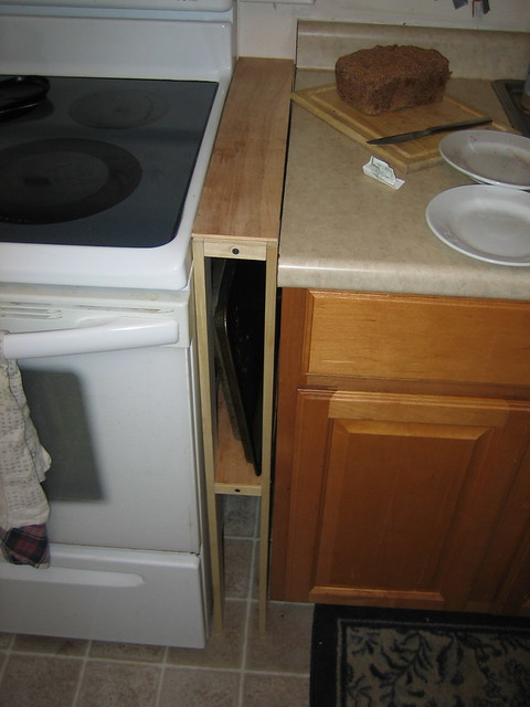 Gap Between Kitchen Hounter And The Cabinet