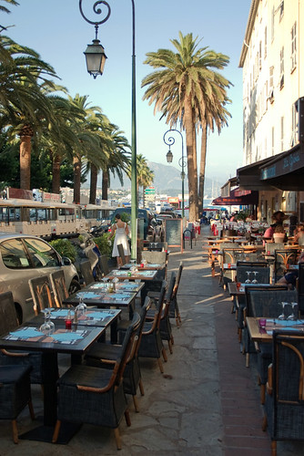 Street restaurant at Ajaccio