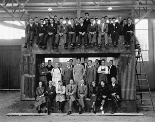 Early Rad Lab Staff At the Magnet for the 60-Inch Cyclotron