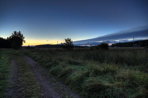 road morning sky field clouds sunrise finland landscape hdr mäntsälä tonemapped tonemap 5exp