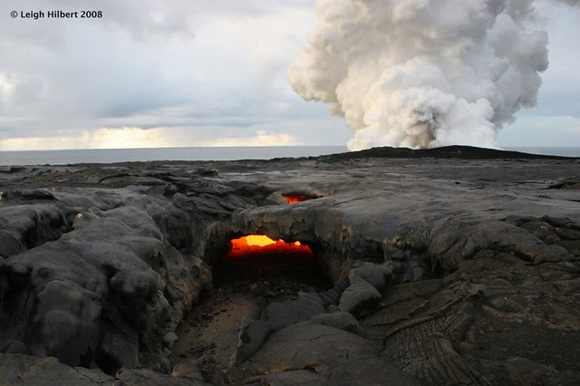 Collapsed Molten Lava Tube Roof