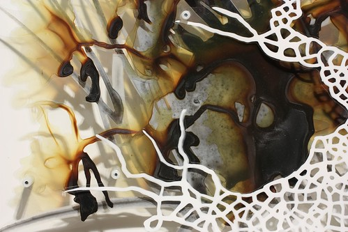 "Katy Stone ""Spiders & Lace 2 (Leaves)"" Detail"