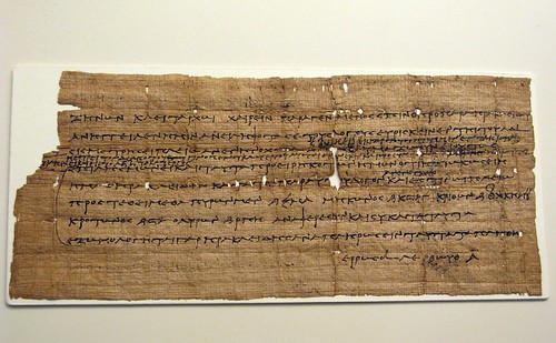 Papyrus in Greek regarding tax issues (3rd ca. BC.)