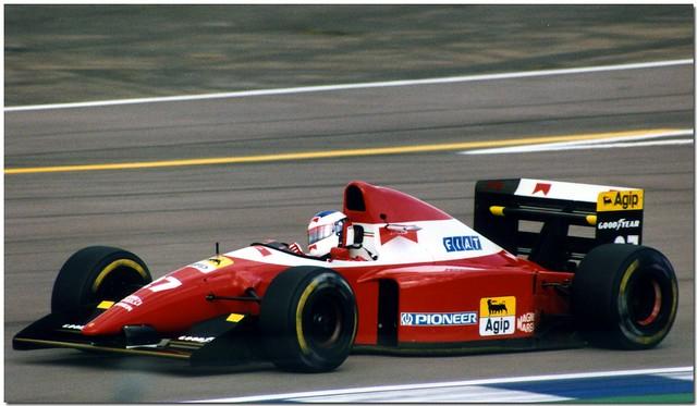 Jean Alesi Ferrari F93a F1 1993 British Gp Silverstone