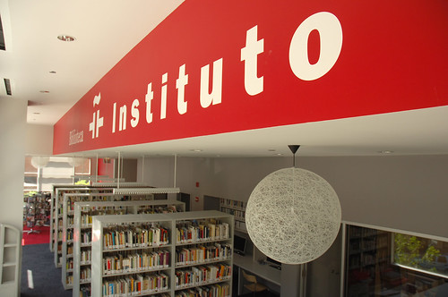 Una biblioteca del Instituto Cervantes