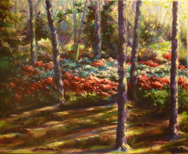 Forest patterns acrylic painting flickr photo sharing for Painting a forest in acrylics