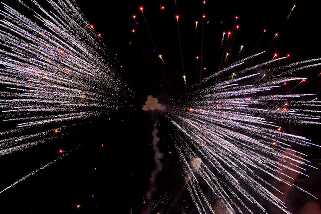 A different view of fireworks
