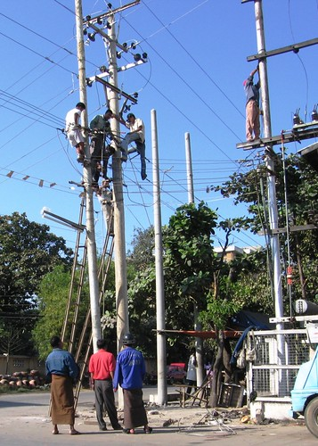 Power Company Guys - Mandalay, Myanmar (Burma)