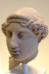 Bust of a Woman Greek made in Taras South Italy about 400 BCE Terracotta